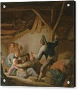 Peasant Brawl In A Tavern Acrylic Print