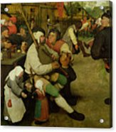 Peasant Dance Acrylic Print by Pieter the Elder Bruegel