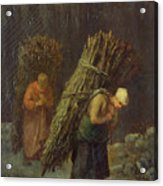 Peasant Women With Brushwood Acrylic Print