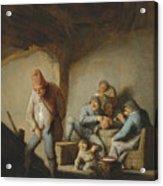 Peasants In The Interior Of An Inn Acrylic Print