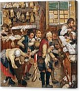 Peasants Paying Tithes By Pieter Bruegel I Acrylic Print