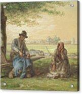 Peasants Resting Acrylic Print