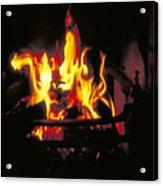 Peat Fire In Ireland Acrylic Print