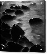 Pebble Beach By Moonlight Acrylic Print