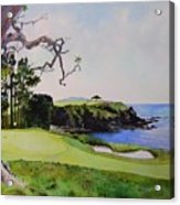 Pebble Beach Gc 5th Hole Acrylic Print by Scott Mulholland