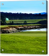 Pebble Beach Golf Links No 18 Acrylic Print by Lyle  Huisken