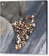 Pebble Beach Rocks 8778 Acrylic Print