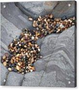 Pebble Beach Rocks 8787 Acrylic Print