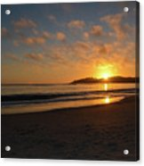 Pebble Beach Sunset Acrylic Print
