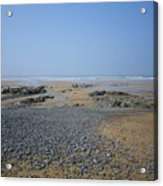 Pebble Strewn Beach Acrylic Print