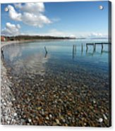 Pebbled Beach Denmark Acrylic Print