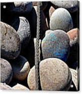 Pebbles And Cable Acrylic Print