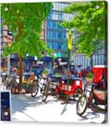 Pedal Taxis 1 Acrylic Print