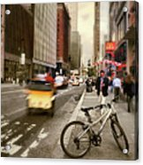 Peddle It Manhattan Acrylic Print