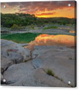 Pedernales River Sunrise, Texas Hill Country 8257 Acrylic Print