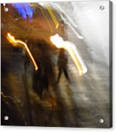 Pedestrians 4  6th Ave Series  Abstract Acrylic Print