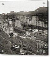 Pedro Miguel Locks, Panama Canal, 1910 Acrylic Print