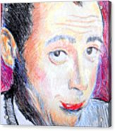 Pee Wee Herman  Acrylic Print by Jon Baldwin  Art