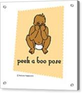 Peek A Boo Pose 2 Acrylic Print