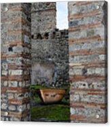 Peek Into The Past - Pompeii Acrylic Print