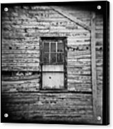 Peeling Wall And Cool Window At Fort Delaware On Film Acrylic Print