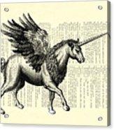 Pegasus Black And White Acrylic Print