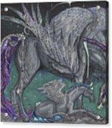 Pegasus Mare And Foal Acrylic Print