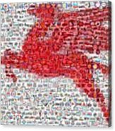 Pegasus Mosaic Acrylic Print