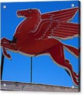 Pegasus Oil Sign Acrylic Print