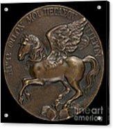 Pegasus Soaring Above Parnassus [reverse] Acrylic Print