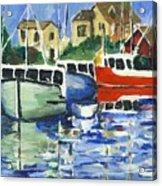 Peggys Cove 3 Fisherman Acrylic Print