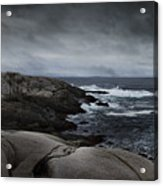 Peggys Cove Impending Storm Acrylic Print