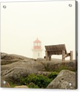 Peggy's Cove Lighthouse And The Banch Acrylic Print