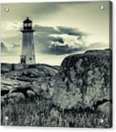 Peggys Cove Lighthouse Acrylic Print
