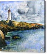 Peggy's Cove Lighthouse Landscape Acrylic Print