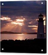 Peggy's Cove Lighthouse Silhouette Acrylic Print