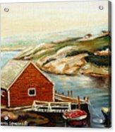Peggys Cove Nova Scotia Landmark Acrylic Print
