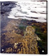 Peggy's Cove Surf Splash Acrylic Print