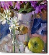 Peggy's Orchids Acrylic Print