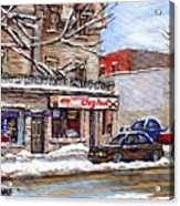 Peintures Petits Formats A Vendre Montreal Original Art For Sale Restaurant Chez Paul The Pointe Psc Acrylic Print