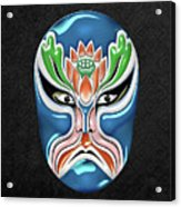Peking Opera Face-paint Masks - Zhongli Chun Acrylic Print
