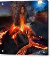 Pele - Volcano Goddess Acrylic Print