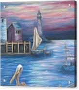 Pelican Port Acrylic Print