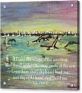 Pelicans Fly Psalm 139 Acrylic Print