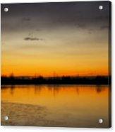 Pella Ponds  December 16th Sunrise Acrylic Print by James BO  Insogna