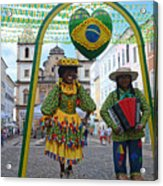 Pelourinho - Historic Center Of Salvador Bahia Acrylic Print