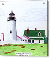 Pemaquid Point Lighthouse Acrylic Print by Frederic Kohli
