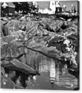 Pemaquid Point Lighthouse Maine Black And White Acrylic Print