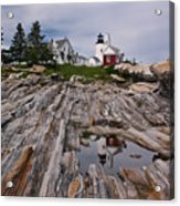 Pemaquid Reflections Acrylic Print by M S McKenzie