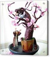 Pen-jing Dragon Plum Tree Acrylic Print